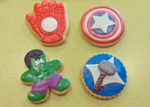 These ones also included Captain America's shield, the Hulk, Thor's hammer and Iron Man's hand. Epic!